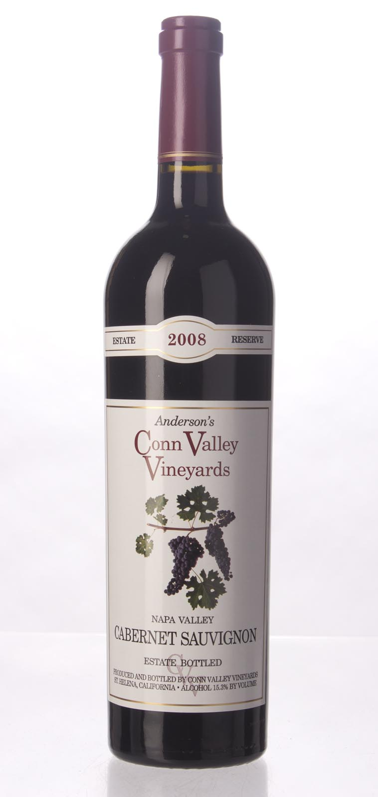 Anderson`s Conn Valley Cabernet Sauvignon Estate Reserve 2008, 750mL (WA98) from The BPW - Merchants of rare and fine wines.