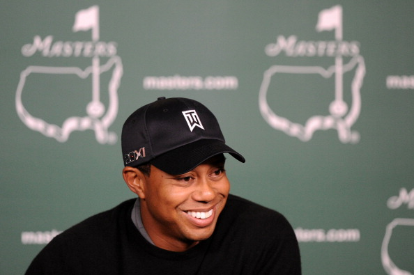 AUGUSTA, GA - APRIL 05:  Tiger Woods speaks to the media during a press conference during a practice round prior to the 2011 Masters Tournament at Augusta National Golf Club on April 5, 2011 in Augusta, Georgia.  (Photo by Harry How/Getty Images)