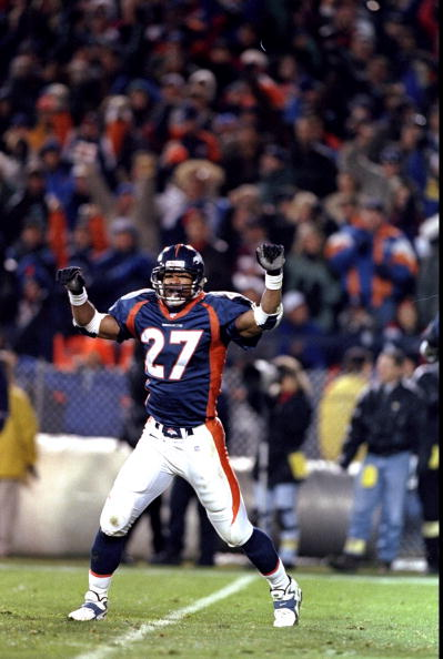 6 Dec 1998: Safety Steve Atwater #27 of the Denver Broncos in action during the game against the Kansas City Chiefs at Mile High Stadium in Denver, Colorado. The Broncos defeated the Chiefs 35-31.