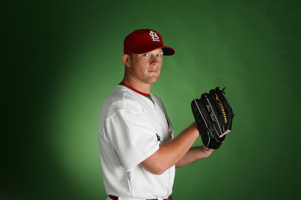 JUPITER, FL - FEBRUARY 20:  Pitcher Jess Todd #76 of the St. Louis Cardinals poses during photo day at Roger Dean Stadium on February 20, 2009 in Jupiter, Florida.  (Photo by Doug Benc/Getty Images)