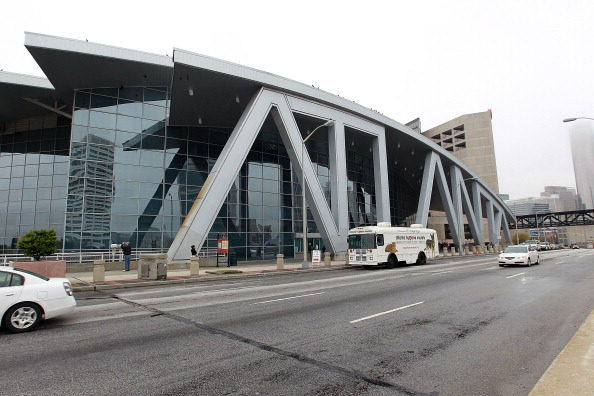 ATLANTA, GA - MARCH 27:  An outside view of Philips Arena prior to the game between the Atlanta Thrashers and the Ottawa Senators on March 27, 2011 in Atlanta, Georgia. The Thrashers defeated the 5-4 in the shoot out.  (Photo by Bruce Bennett/Getty Images)
