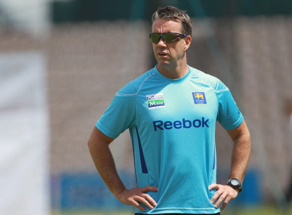 SOUTHAMPTON, ENGLAND - JUNE 14:  Sri Lanka coach Stuart Law looks on during the England and Sri Lanka nets session at The Rose Bowl on June 14, 2011 in Southampton, England.  (Photo by Tom Shaw/Getty Images)