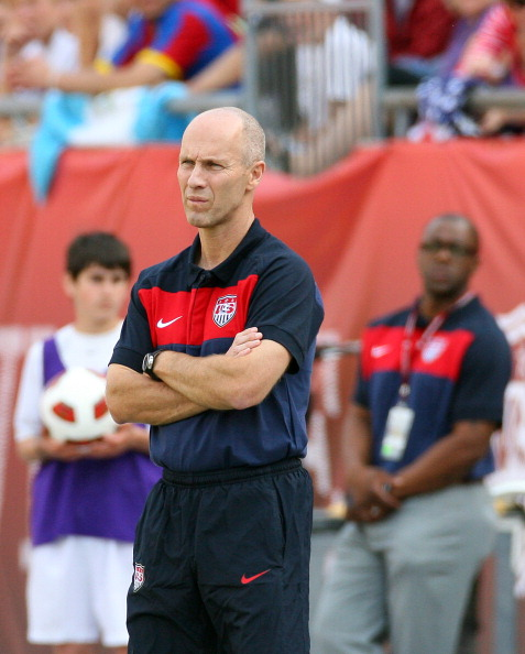 FOXBORO, MA - JUNE 04:   Head Coach Bob Bradley of the United States watches his team lose to Spain at Gillette Stadium on June 4, 2011 in Foxboro, Massachusetts. (Photo by Gail Oskin/Getty Images)