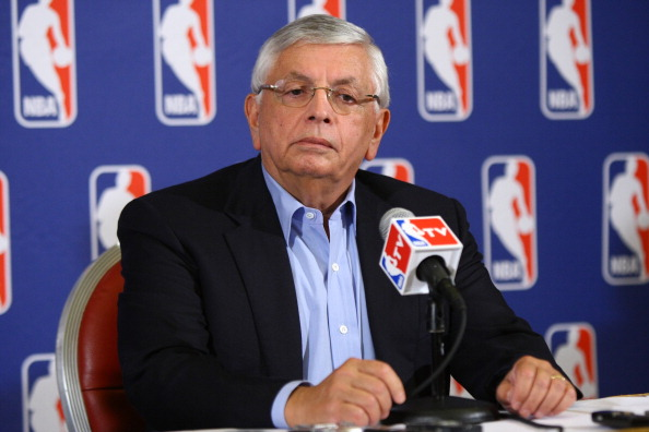 NEW YORK, NY - JUNE 30:  Commissioner of the NBA, David Stern announces that a lockout will go ahead as NBA labor negotiations break down at Omni Hotel on June 30, 2011 in New York City. The NBA has locked out the players after they were unable to reach a new collective bargaining agreement (CBA). The current CBA is due to expire tonight at midnight.    (Photo by Neilson Barnard/Getty Images)