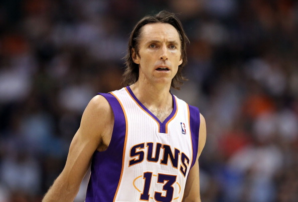PHOENIX, AZ - APRIL 13:  Steve Nash #13 of the Phoenix Suns during the NBA game against the San Antonio Spurs at US Airways Center on April 13, 2011 in Phoenix, Arizona.  NOTE TO USER: User expressly acknowledges and agrees that, by downloading and or using this photograph, User is consenting to the terms and conditions of the Getty Images License Agreement.  (Photo by Christian Petersen/Getty Images)