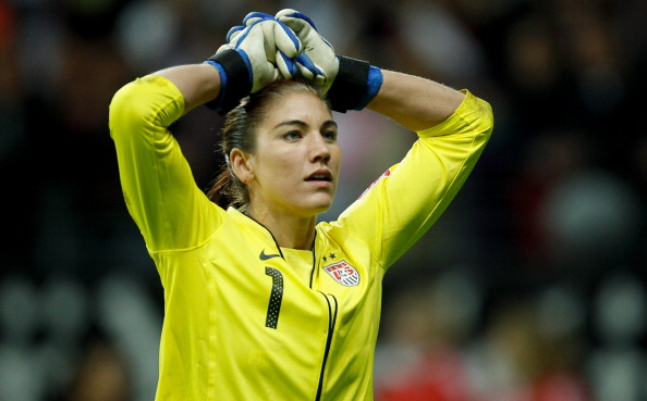 FRANKFURT AM MAIN, GERMANY - JULY 17:  Hope Solo of USA looks on during the FIFA Women's World Cup Final match between Japan and USA at the FIFA World Cup stadium Frankfurt on July 17, 2011 in Frankfurt am Main, Germany.  (Photo by Friedemann Vogel/Getty Images)