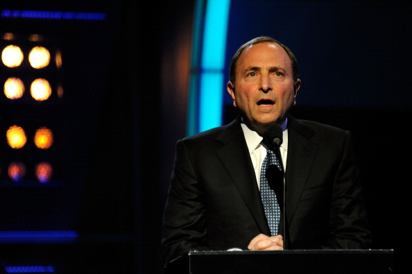 LAS VEGAS, NV - JUNE 22:  NHL commissioner Gary Bettman speaks during the 2011 NHL Awards at The Pearl concert theater at the Palms Casino Resort June 22, 2011 in Las Vegas, Nevada.  (Photo by Ethan Miller/Getty Images)