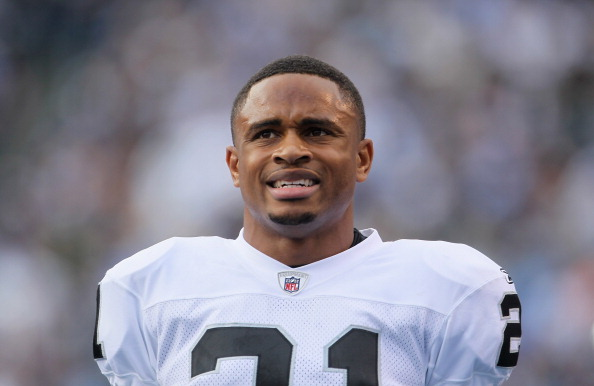 SAN DIEGO - DECEMBER 05:  Nnamdi Asomugha #21 the Oakland Raiders looks on from the sideline against the San Diego Chargers at Qualcomm Stadium on December 5, 2010 in San Diego, California. The Raiders defeated the Chargers 28-13.  (Photo by Jeff Gross/Getty Images)