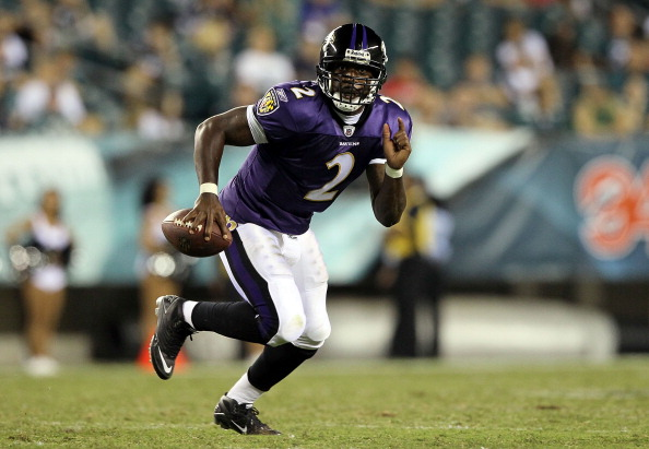 PHILADELPHIA, PA - AUGUST 11:  Tyrod Taylor #2 of the Baltimore Ravens runs the ball against the Philadelphia Eagles during their pre season game on August 11, 2011 at Lincoln Financial Field in Philadelphia, Pennsylvania.  (Photo by Jim McIsaac/Getty Images)
