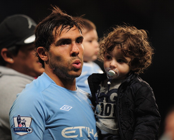 MANCHESTER, ENGLAND - MAY 17:  Carlos Tevez of Manchester City acknowledges the crowd after the Barclays Premier League match between Manchester City and Stoke City at City of Manchester Stadium on May 17, 2011 in Manchester, England.  (Photo by Shaun Botterill/Getty Images)