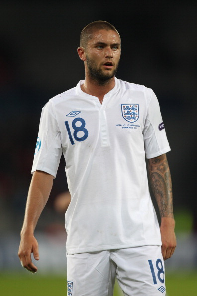 HERNING, DENMARK - JUNE 12: Henri Lansbury of England during the UEFA European Under-21 Championship Group B match between England and Spain at the Herning Stadium on June 12, 2011 in Herning, Denmark.  (Photo by Michael Steele/Getty Images)