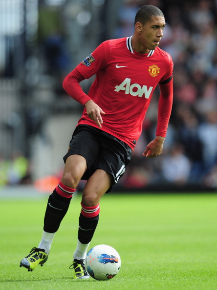 WEST BROMWICH, ENGLAND - AUGUST 14:  Chris Smalling of Manchester United in action during the Barclays Premier League match between West Bromwich Albion and Manchester United at The Hawthorns on August 14, 2011 in West Bromwich, England.  (Photo by Shaun Botterill/Getty Images)