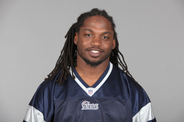 FOXBOROUGH, MA - CIRCA 2010: In this handout image provided by the NFL,  Brandon Meriweather of the New England Patriots poses for his 2010 NFL headshot circa 2010 in Foxborough, Massachusetts. (Photo by NFL via Getty Images)