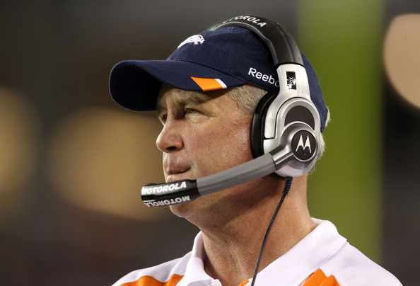GLENDALE, AZ - SEPTEMBER 01:  Head coach John Fox of the Denver Broncos watches from the sidelines during the preseason NFL game against the Arizona Cardinals at the University of Phoenix Stadium on September 1, 2011 in Glendale, Arizona. The Cardinals defeated the Broncos 26-7.  (Photo by Christian Petersen/Getty Images)