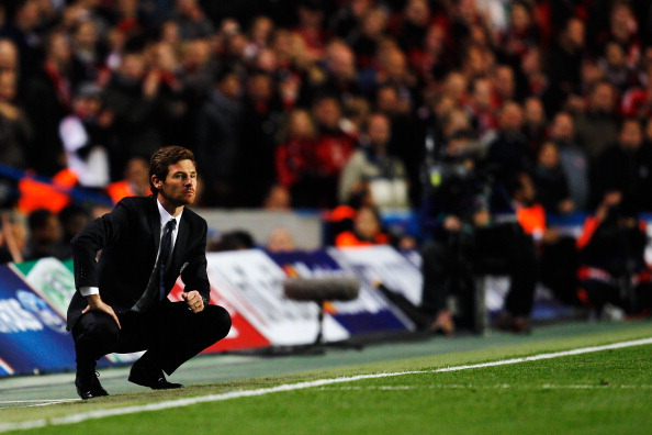LONDON, ENGLAND - SEPTEMBER 13:  Andre Villas-Boas the Chelsea manager is seen during the UEFA Champions League group E match between Chelsea FC and Bayer 04 Leverkusen at Stamford Bridge on September 13, 2011 in London, England.  (Photo by Paul Gilham/Getty Images)