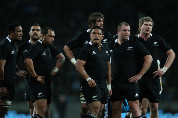 PORT ELIZABETH, SOUTH AFRICA - AUGUST 20: All Black captain Keven Mealamu (C) during the Tri Nations Test match between the South African Springboks and the New Zealand All Blacks at the Nelson Mandela Bay Stadium on August 20, 2011 in Port Elizabeth, South Africa.  (Photo by Phil Walter/Getty Images)