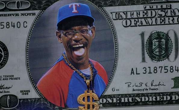 ARLINGTON, TX - OCTOBER 24:  A sign featuring manager Ron Washington of the Texas Rangers is seen prior to Game Five of the MLB World Series against the St. Louis Cardinals at Rangers Ballpark in Arlington on October 24, 2011 in Arlington, Texas.  (Photo by Doug Pensinger/Getty Images)