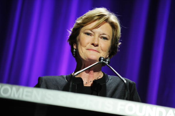 NEW YORK - OCTOBER 13:  Basketball coach Pat Summitt speaks onstage during the 30th Annual Salute To Women In Sports Awards at The Waldorf=Astoria on October 13, 2009 in New York City.  (Photo by Stephen Lovekin/Getty Images for the Women�s Sports Foundation)