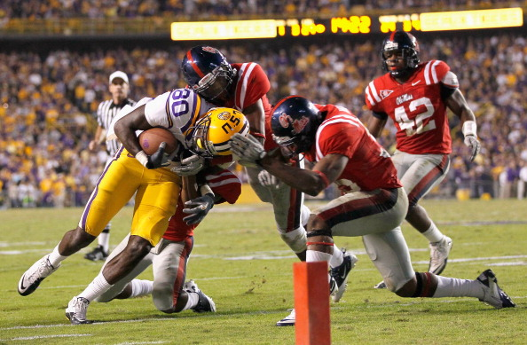 BATON ROUGE, LA - NOVEMBER 20:  Terrence Toliver #80 of the Louisiana State University Tigers against the Ole Miss Rebels at Tiger Stadium on November 20, 2010 in Baton Rouge, Louisiana.  (Photo by Kevin C. Cox/Getty Images)