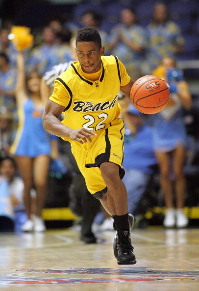 ANAHEIM, CA - NOVEMBER 29:  Casper Ware #22 of Long Beach State dribbles the ball upcourt against UCLA during the 76 Classic at Anaheim Convention Center on November 29, 2009 in Anaheim, California. Long Beach defeated UCLA 79-68. (Photo by Victor Decolongon/Getty Images)