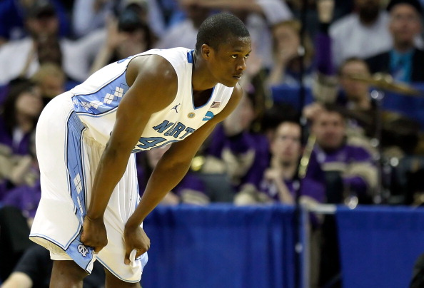 CHARLOTTE, NC - MARCH 20:  Harrison Barnes #40 of the North Carolina Tar Heels looks on in the second half while taking on the Washington Huskies during the third round of the 2011 NCAA men's basketball tournament at Time Warner Cable Arena on March 20, 2011 in Charlotte, North Carolina.  (Photo by Kevin C. Cox/Getty Images)