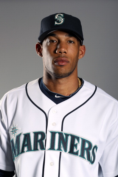 PEORIA, AZ - FEBRUARY 20:  Greg Halman #56 of the Seattle Mariners poses for a portrait at the Peoria Sports Complex on February 20, 2011 in Peoria, Arizona.  (Photo by Ezra Shaw/Getty Images)