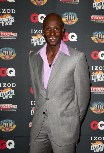INDIANAPOLIS, IN - MAY 28:  Pro Football Hall of Famer Jerry Rice poses for a photo during the IZOD GQ party celebrating a Century of Speed, Style and Stars at the 100th Anniversary Indianapolis 500 on May 28, 2011 at the Indianapolis Museum of Art in Indianapolis, Indiana.  (Photo by Robert Laberge/Getty Images for MATTER)