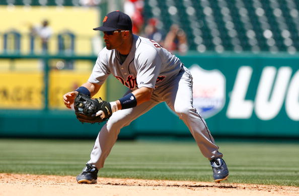 ANAHEIM, CA - AUGUST 26:  Placido Polanco #14 of the Detroit Tigers plays against  the Los Angeles Angels of Anaheim at Angel Stadium on August 26, 2009 in Anaheim, California. The Angels defeated the Tigers 4-2.  (Photo by Jeff Gross/Getty Images)