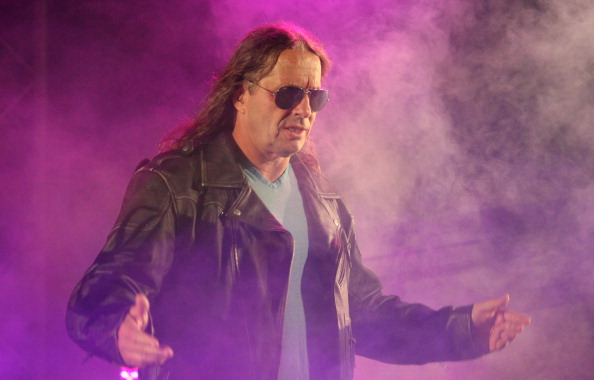 DURBAN, SOUTH AFRICA - JULY 08:  Special guest referee Bret 'The Hitman' Hart is introduced during the WWE Smackdown Live Tour at Westridge Park Tennis Stadium on July 08, 2011 in Durban, South Africa.  (Photo by Steve Haag/Gallo Images/Getty Images)