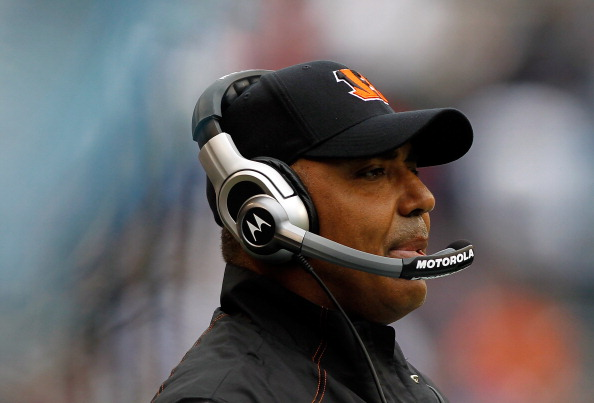 SEATTLE - OCTOBER 30:  Head Coach Marvin Lewis of the Cincinnati Bengals watches the game against the Seattle Seahawks on October 30, 2011 at Century Link Field in Seattle, Washington.  (Photo by Jonathan Ferrey/Getty Images)