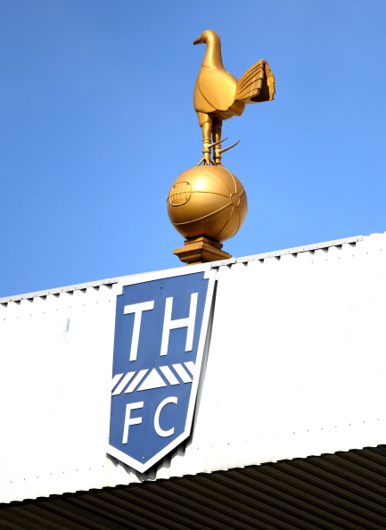 LONDON, ENGLAND - MAY 22: A general view of the Tottenham Hotspur crest during the Barclays Premier League match between Tottenham Hotspur and Birmingham City at White Hart Lane on May 22, 2011 in London, England.  (Photo by Julian Finney/Getty Images)