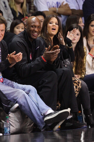 LOS ANGELES, CA - FEBRUARY 18:  (L-R) Bruce Jenner, Lamar Odom and Khloe Kardashian play at the 2011 BBVA NBA All-Star Celebrity Game at the Los Angeles Convention Center on February 18, 2011 in Los Angeles, California.  NOTE TO USER: User expressly acknowledges and agrees that, by downloading and or using this photograph, User is consenting to the terms and conditions of the Getty Images License Agreement. (Photo by Noel Vasquez/Getty Images)