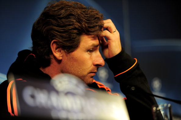 GENK, BELGIUM - OCTOBER 31:  Chelsea Manager Andre Villas Boas listens to a question during a press conference prior to the Champions League Group E match between KRC Genk and Chelsea at the KRC Genk Arena on October 31, 2011 in Genk, Belgium.  (Photo by Jamie McDonald/Getty Images)