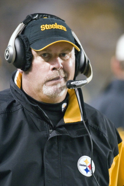 Pittsburgh Steelers wide receivers coach Bruce Arians during a game against the Cleveland Browns at Heinz Field in Pittsburgh, Pennsylvania on November 13th, 2005. The Steelers defeated the Browns 34 to 21. (Photo by Michael Fabus/NFLPhotoLibrary)
