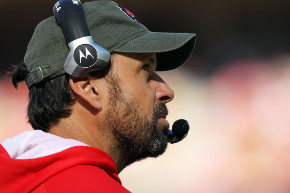 KANSAS CITY, MO - NOVEMBER 13:  Head coach Todd Haley of the Kansas City Chiefs watches a replay during the game against the Denver Broncos on November 13, 2011 at Arrowhead Stadium in Kansas City, Missouri.  (Photo by Jamie Squire/Getty Images)