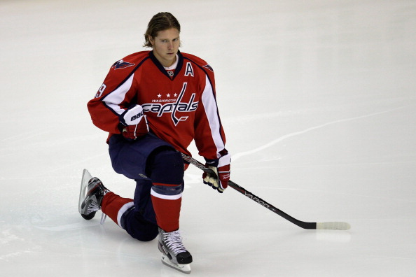 WASHINGTON, DC - NOVEMBER 29: Nicklas Backstrom #19 of the Washington Capitals warms up before the start of the Capitals game against the St. Louis Blues at Verizon Center on November 29, 2011 in Washington, DC.  (Photo by Rob Carr/Getty Images)
