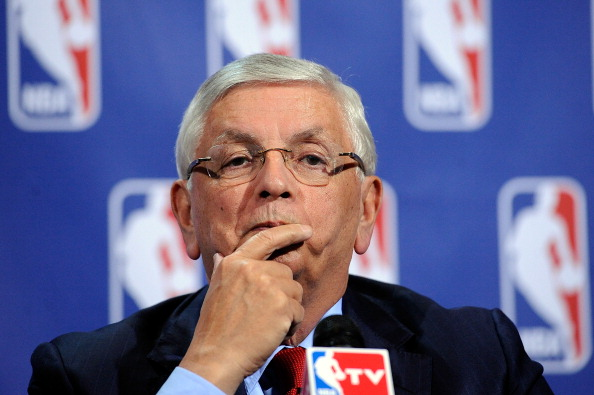 NEW YORK, NY - NOVEMBER 10:  NBA Commissioner David Stern speaks at a press conference after the NBA and NBA Player's Association met to negotiate the CBA at The Helmsley Hotel on November 10, 2011 in New York City.  (Photo by Patrick McDermott/Getty Images)