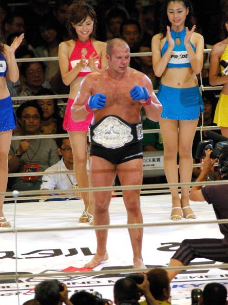 Emelianenko Fedor, the Winner of the PRIDE Heavy Weight Title Match (Photo by Tomokazu Tazawa/Getty Images)
