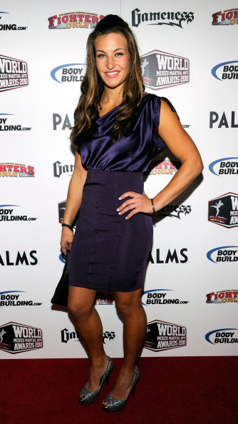 LAS VEGAS, NV - DECEMBER 01:  Mixed martial artist Miesha Tate arrives at the third annual Fighters Only World Mixed Martial Arts Awards 2010 at the Palms Casino Resort December 1, 2010 in Las Vegas, Nevada.  (Photo by Ethan Miller/Getty Images)