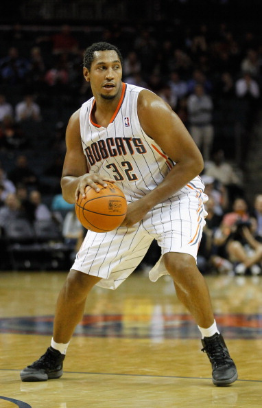 CHARLOTTE, NC - JANUARY 10:  Boris Diaw #32 of the Charlotte Bobcats against the Houston Rockets during their game at Time Warner Cable Arena on January 10, 2012 in Charlotte, North Carolina.   NOTE TO USER: User expressly acknowledges and agrees that, by downloading and or using this photograph, User is consenting to the terms and conditions of the Getty Images License Agreement.  (Photo by Streeter Lecka/Getty Images)