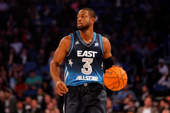 ORLANDO, FL - FEBRUARY 26:  Dwyane Wade #3 of the Miami Heat and and the Eastern Conference looks to pass the ball during the 2012 NBA All-Star Game at the Amway Center on February 26, 2012 in Orlando, Florida.  NOTE TO USER: User expressly acknowledges and agrees that, by downloading and or using this photograph, User is consenting to the terms and conditions of the Getty Images License Agreement.  (Photo by Ronald Martinez/Getty Images)