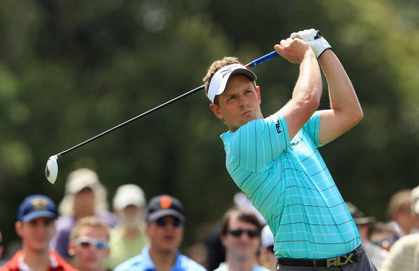 MIAMI, FL - MARCH 09:  Luke Donald of England watches his tee shot on the fifth hole during the second round of the World Golf Championship Cadillac Championship on the TPC Blue Monster Course at Doral Golf Resort And Spa on March 9, 2012 in Miami, Florida.  (Photo by David Cannon/Getty Images)