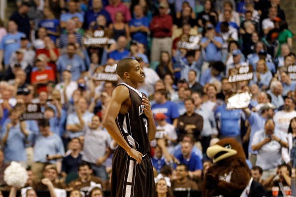 GREENSBORO, NC - MARCH 16:  C.J. McCollum #3 of the Lehigh Mountain Hawks reacts after the Mountain Hawks defeat the Duke Blue Devils 75-70 during the second round of the 2012 NCAA Men's Basketball Tournament at Greensboro Coliseum on March 16, 2012 in Greensboro, North Carolina.  (Photo by Streeter Lecka/Getty Images)