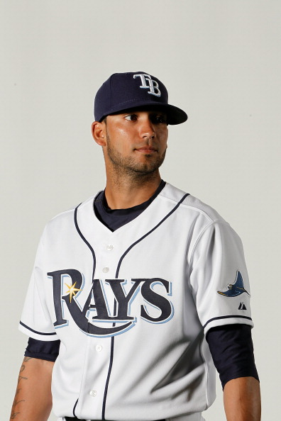 PORT CHARLOTTE, FL - FEBRUARY 29:  Matt Bush #59 of the Tampa   Bay Rays poses for a portrait at the Charlotte Sports Park on February 29, 2012 in Port Charlotte, Florida.(Photo by Jonathan Ferrey/Getty Images)