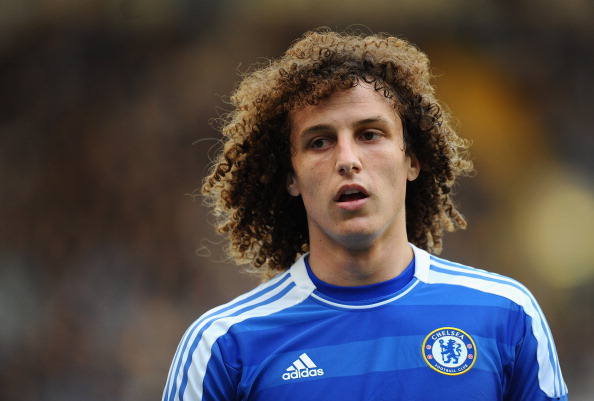 LONDON, ENGLAND - MARCH 10: David Luiz of Chelsea looks on during the Barclays Premier League match between Chelsea and Stoke City at Stamford Bridge on March 10, 2012 in London, England.  (Photo by Mike Hewitt/Getty Images)