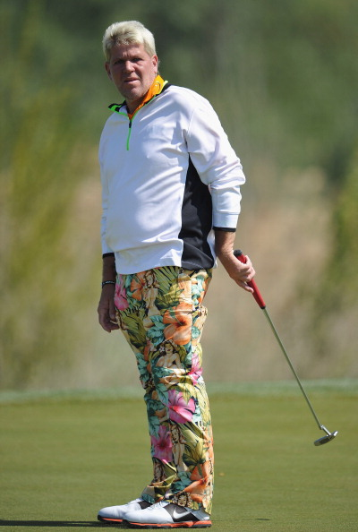SCIACCA, ITALY - MARCH 31:  John Daly of USA reacts to a putt during the third round of the Sicilian Open at Verdura Golf and Spa Resort on March 31, 2012 in Sciacca, Italy.  (Photo by Stuart Franklin/Getty Images)