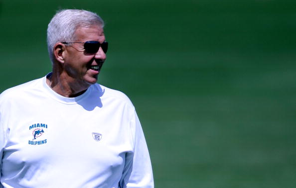 DAVIE, FL - JUNE 06:  Executive Vice President of Football Operations Bill Parcells watches practice during Miami Dolphins Mini Camp on June 6, 2008 at the Dolphins practice facility in Davie, Florida.   (Photo by Marc Serota/Getty Images)
