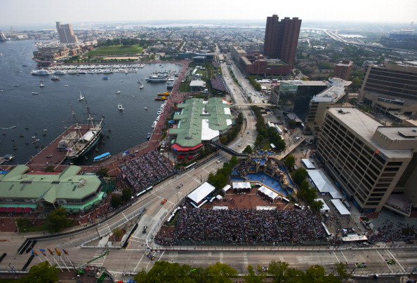 BALTIMORE - SEPTEMBER 4:  General view of the track during the IZOD IndyCar Series Baltimore Grand Prix on September 4, 2011 on the streets of Baltimore, Maryland.  (Photo by Robert Laberge/Getty Images)