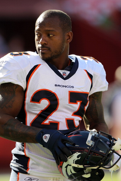 KANSAS CITY, MO - NOVEMBER Willis McGahee #23 of the Denver Broncos warms up prior to the game against the Kansas City Chiefs on November 13, 2011 at Arrowhead Stadium in Kansas City, Missouri.  (Photo by Jamie Squire/Getty Images)