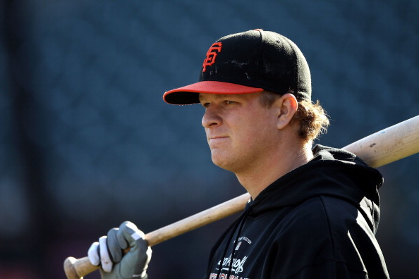 SAN FRANCISCO - OCTOBER 18:  Game three starter Matt Cain #18 of the San Francisco Giants takes batting practice during a workout session for the NLCS at AT&T Park on October 18, 2010 in San Francisco, California.  (Photo by Ezra Shaw/Getty Images)